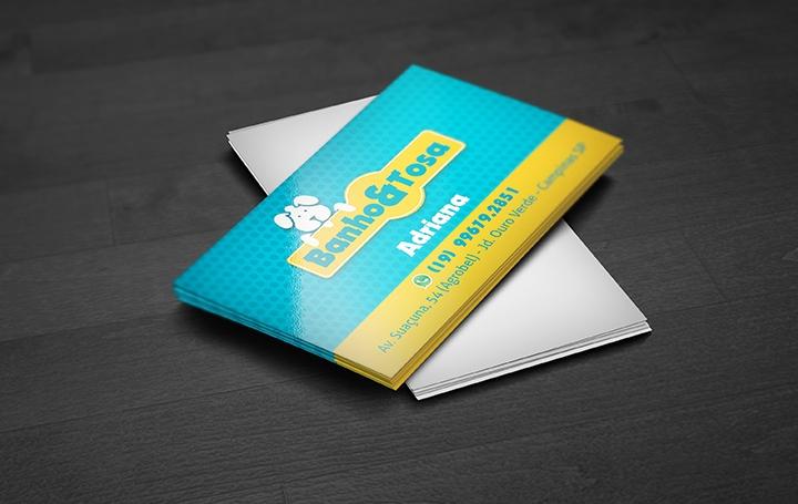 Cartão de visita Envernizado