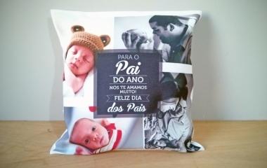 Almofadas Personalizadas com foto, textos e logotipos para presentes, empresas, eventos, aniversários e casamentos
